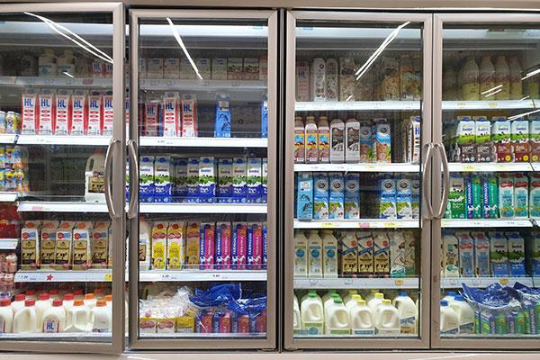 armoire de supermarché